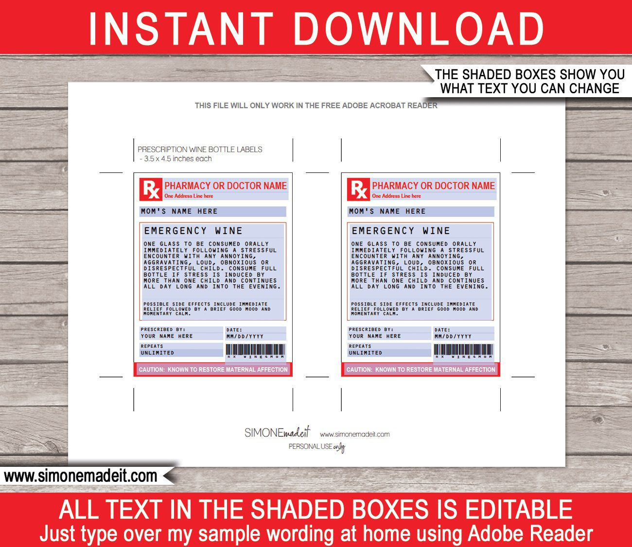 005 Impressive Fake Prescription Label Template Idea  Walgreen BottleFull