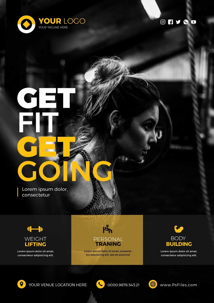 Fitness Flyer Template Free from www.addictionary.org