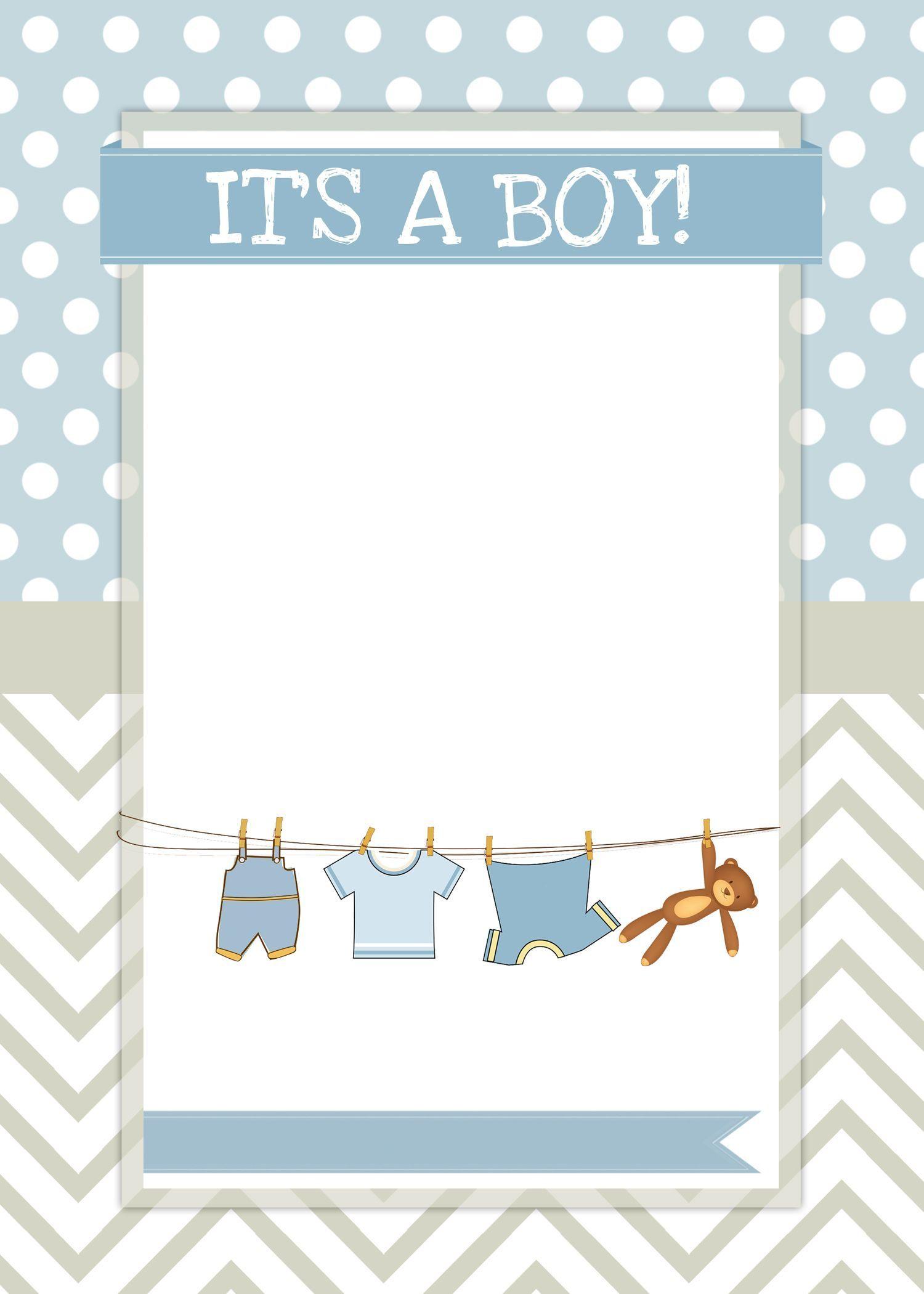 005 Impressive Free Baby Shower Printable Boy Sample  Oh Invitation ForFull