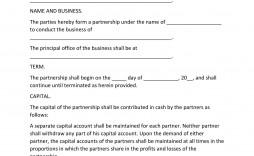 005 Impressive Free Busines Partnership Agreement Template Idea  Online Nz Download