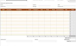 005 Impressive Free Expense Report Form Design  Travel Pdf Blank Template Printable