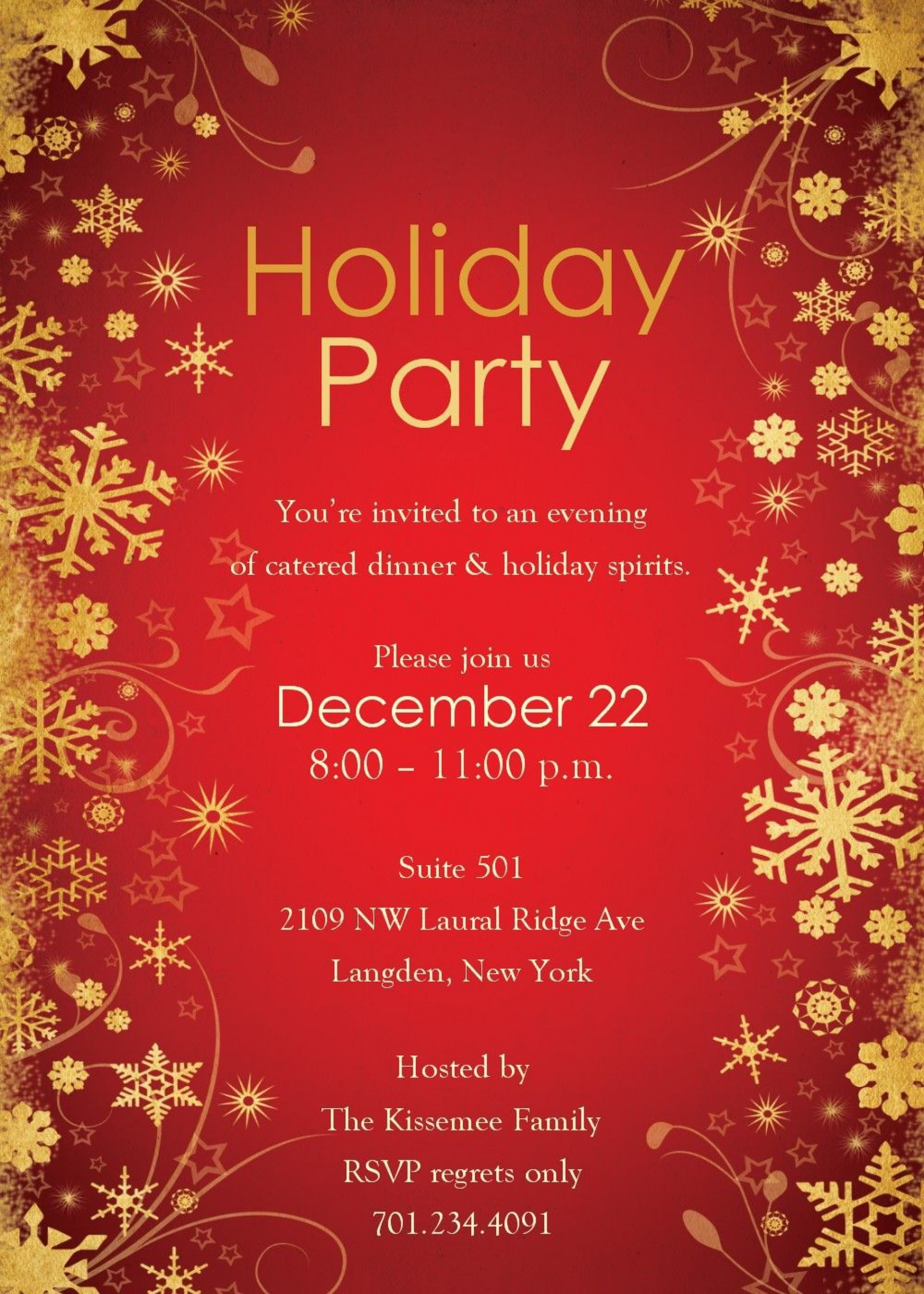 005 Impressive Free Holiday Invite Template Picture  Templates Party Ticket For Email1920