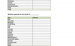005 Impressive Free Monthly Budget Template Pdf High Resolution  Fillable Household Worksheet