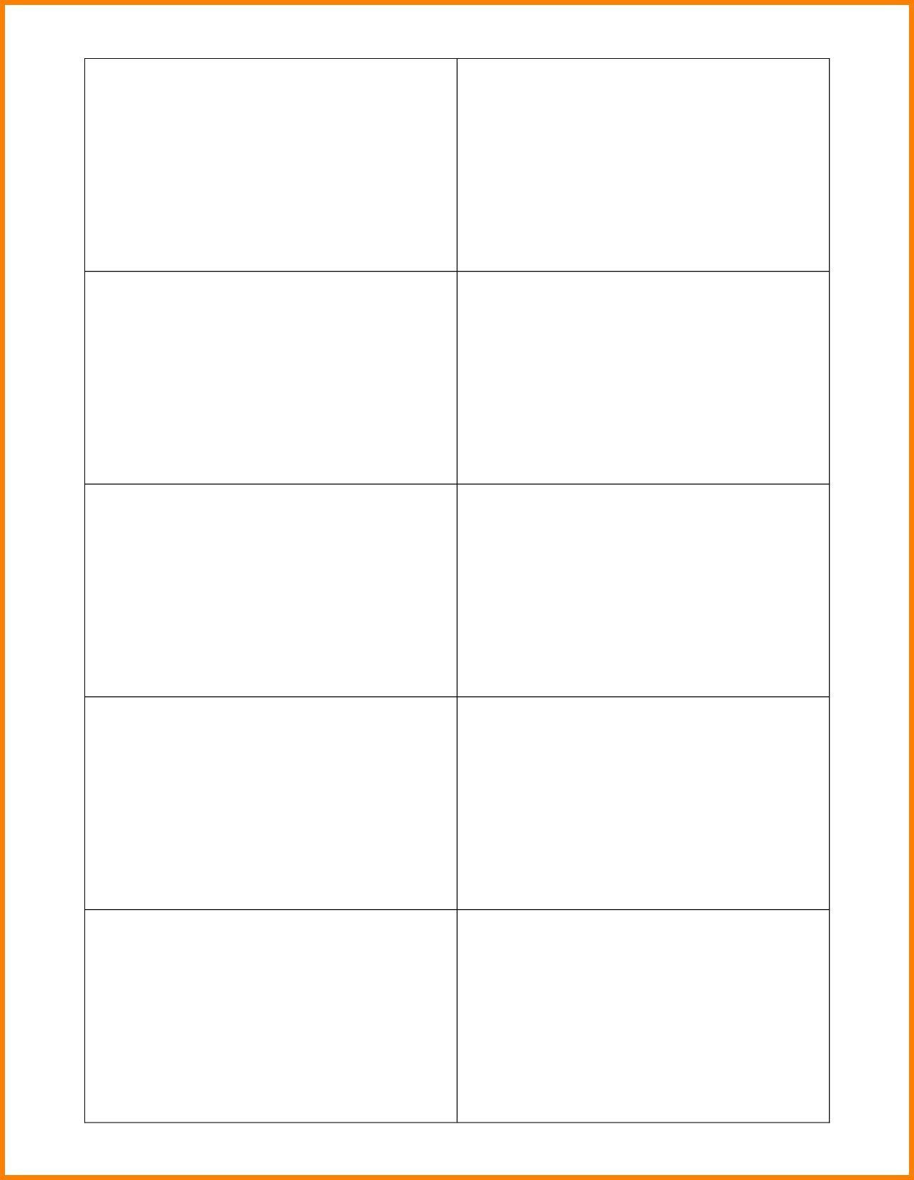005 Impressive Free Printable Busines Card Template For Word Sample  BlankFull