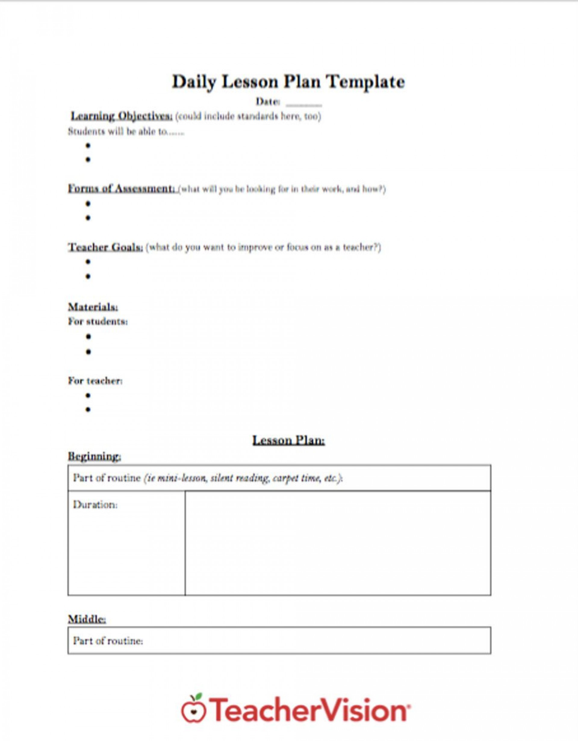 005 Impressive Free Printable Lesson Plan Template For High School Highest Quality 1920
