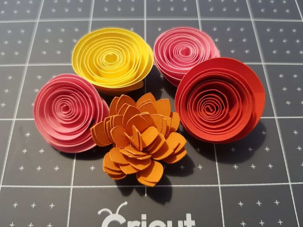 005 Impressive Free Rolled Paper Flower Template For Cricut High Definition Large