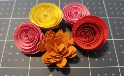 005 Impressive Free Rolled Paper Flower Template For Cricut High Definition