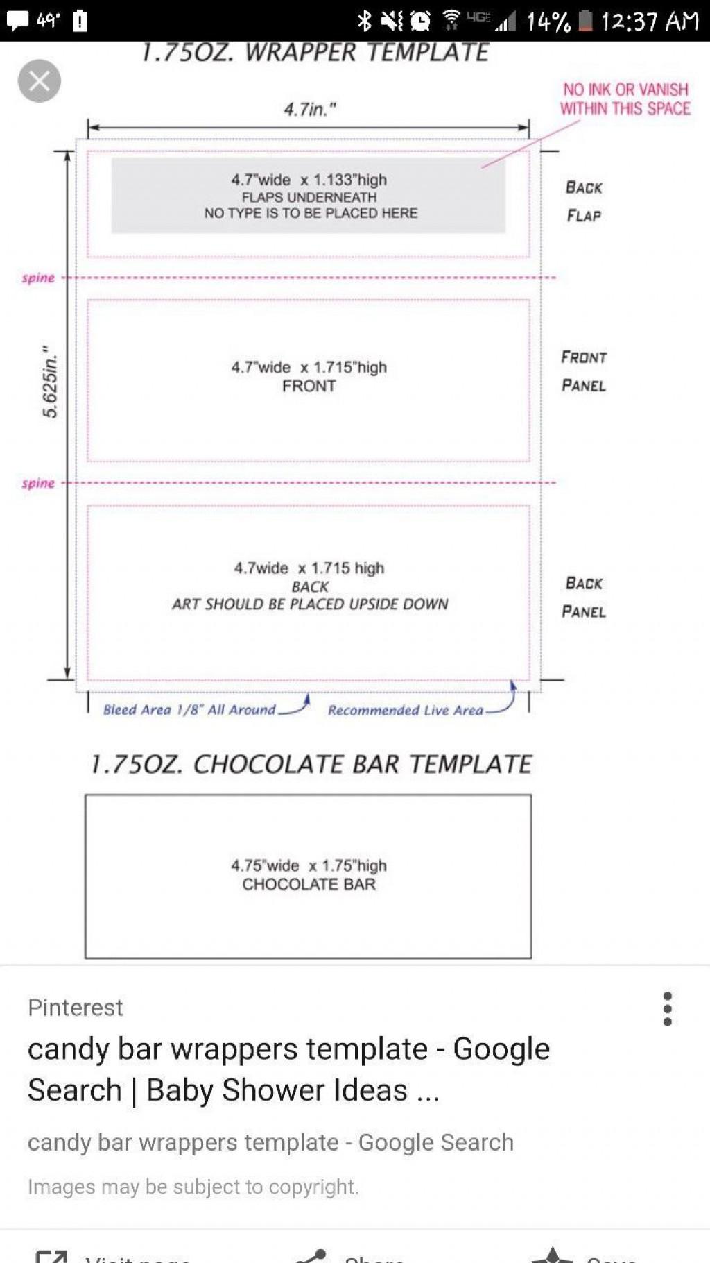 005 Impressive Hershey Candy Bar Wrapper Template Image  Free WordLarge