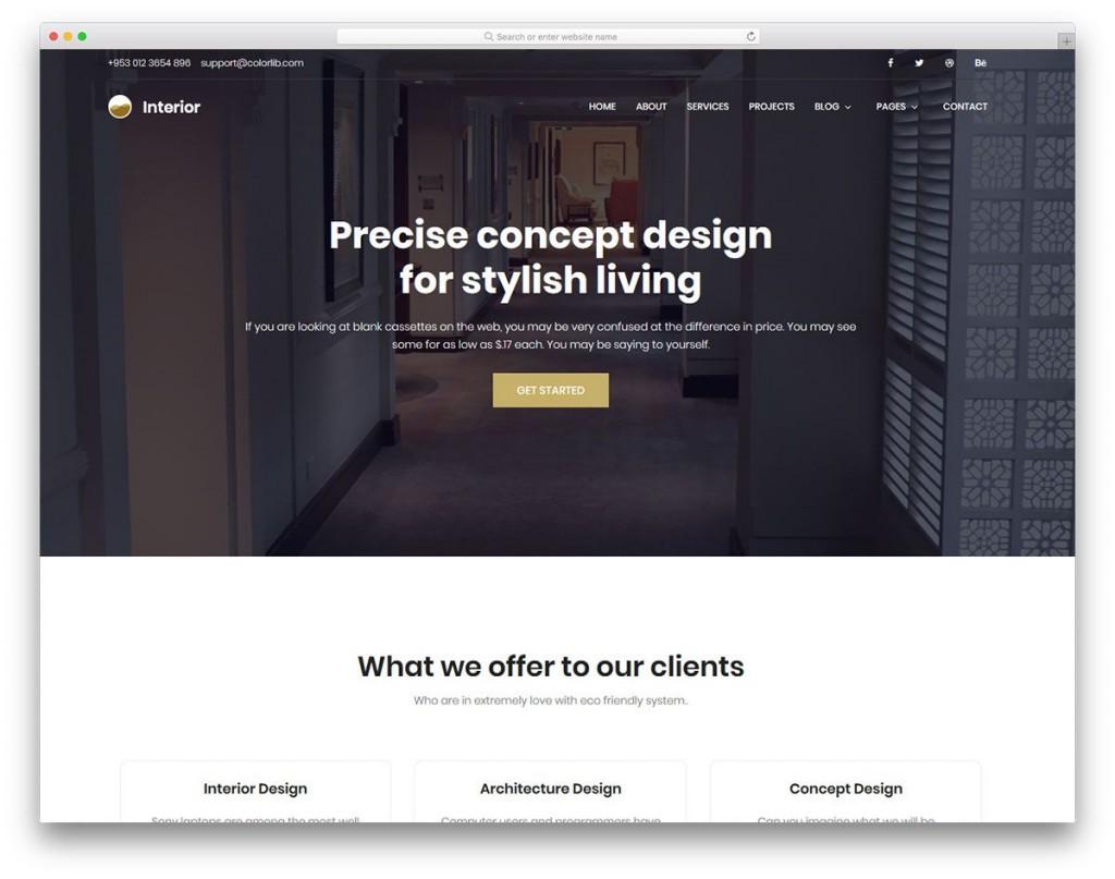 005 Impressive Interior Design Website Template High Def  Templates Company Free Download HtmlLarge