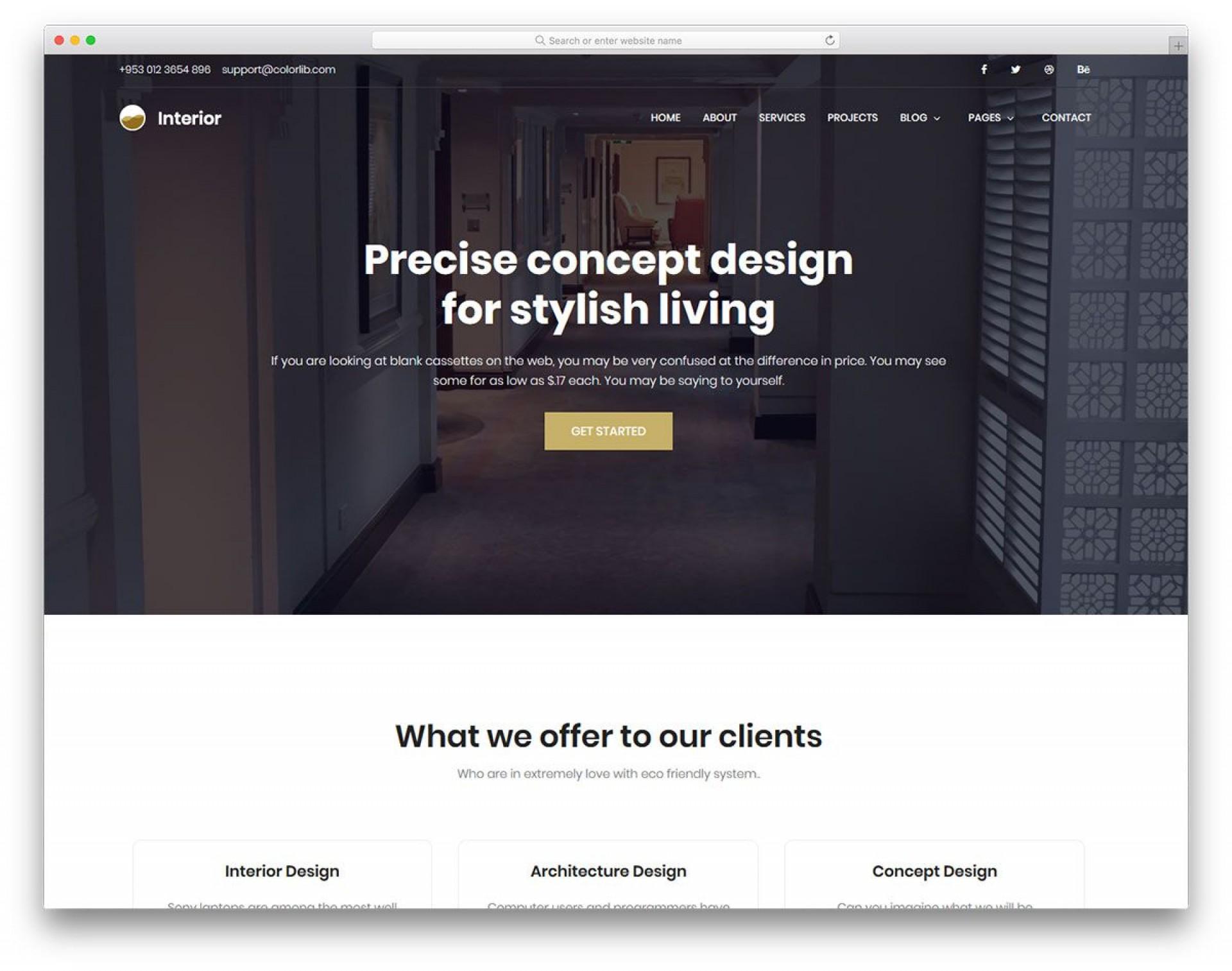 005 Impressive Interior Design Website Template High Def  Templates Company Free Download Html1920
