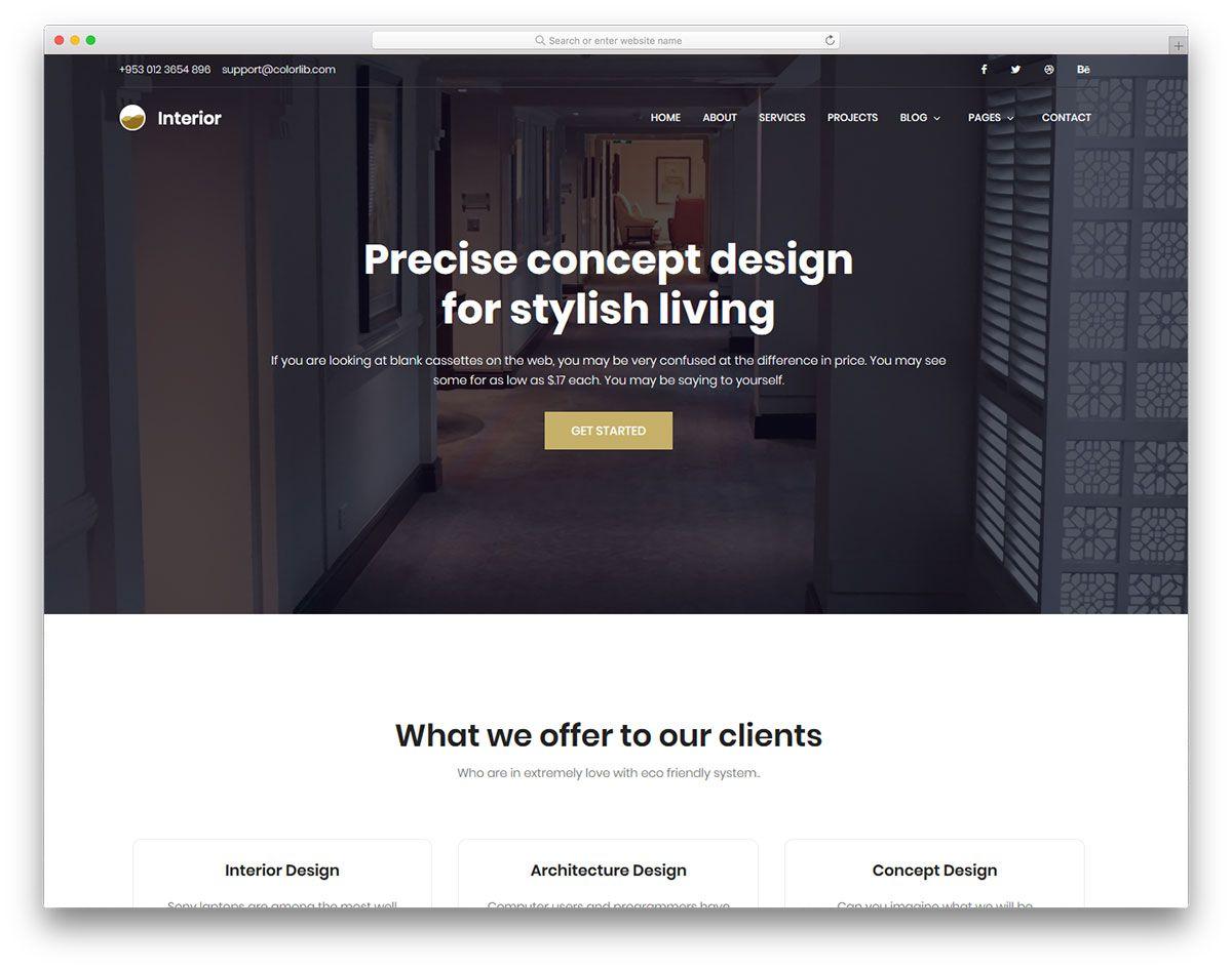005 Impressive Interior Design Website Template High Def  Templates Company Free Download HtmlFull