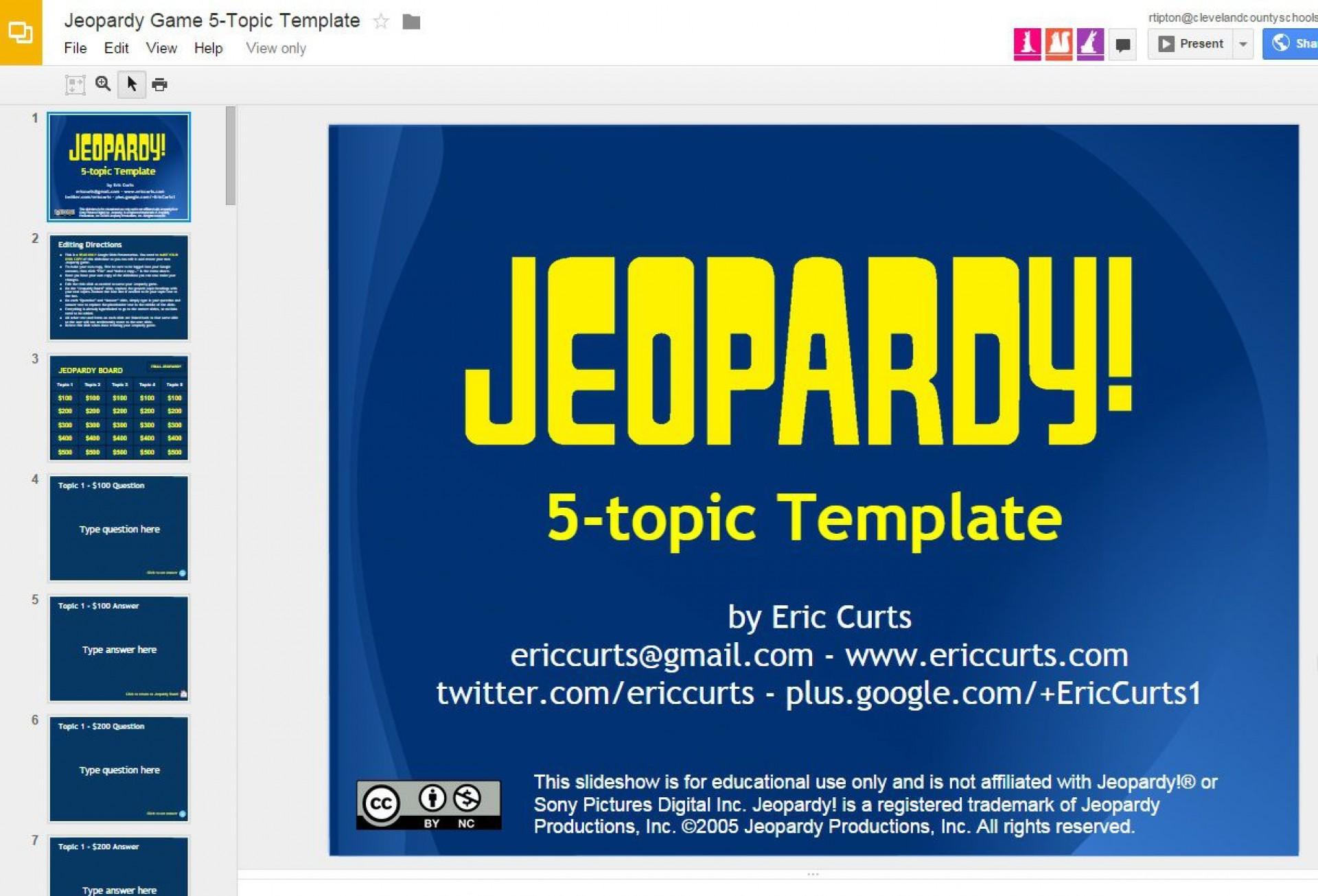 005 Impressive Jeopardy Template Google Slide High Resolution  Slides Board Blank Best1920