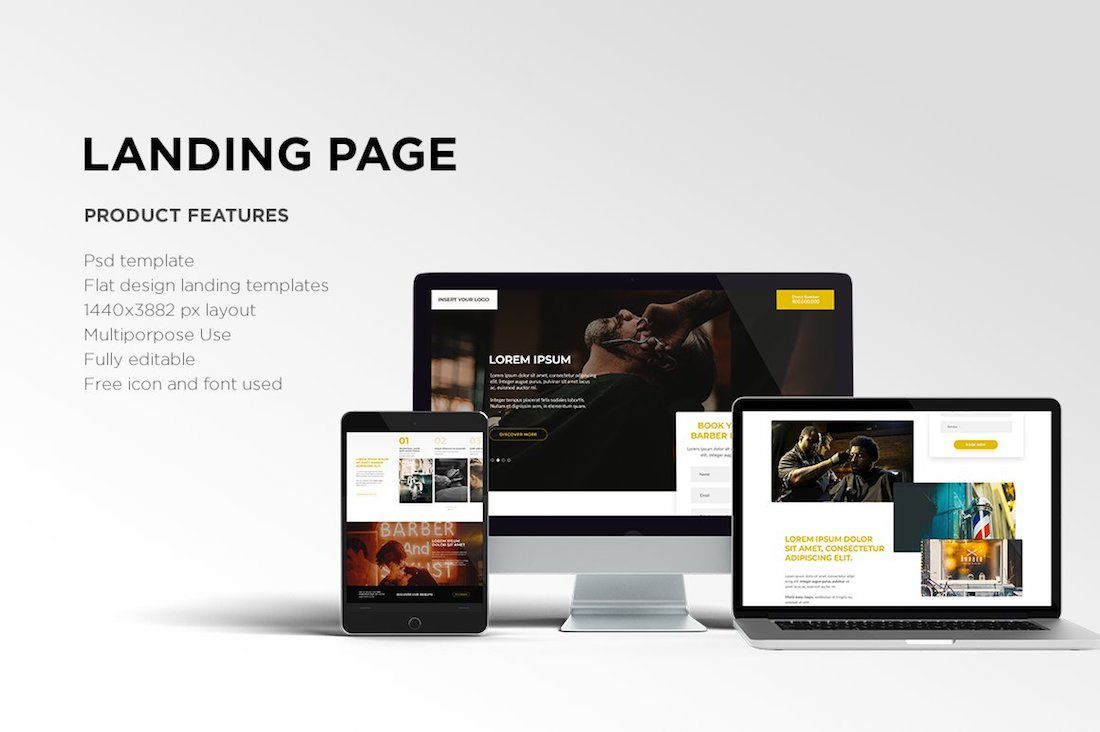 005 Impressive One Page Website Template Psd Free Download Idea Full