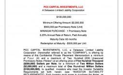 005 Impressive Private Placement Memorandum Template Real Estate High Definition