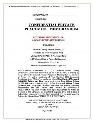 005 Impressive Private Placement Memorandum Template Real Estate High Definition 320