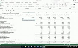 005 Impressive Pro Forma Financial Statement Template Image  Format Sample