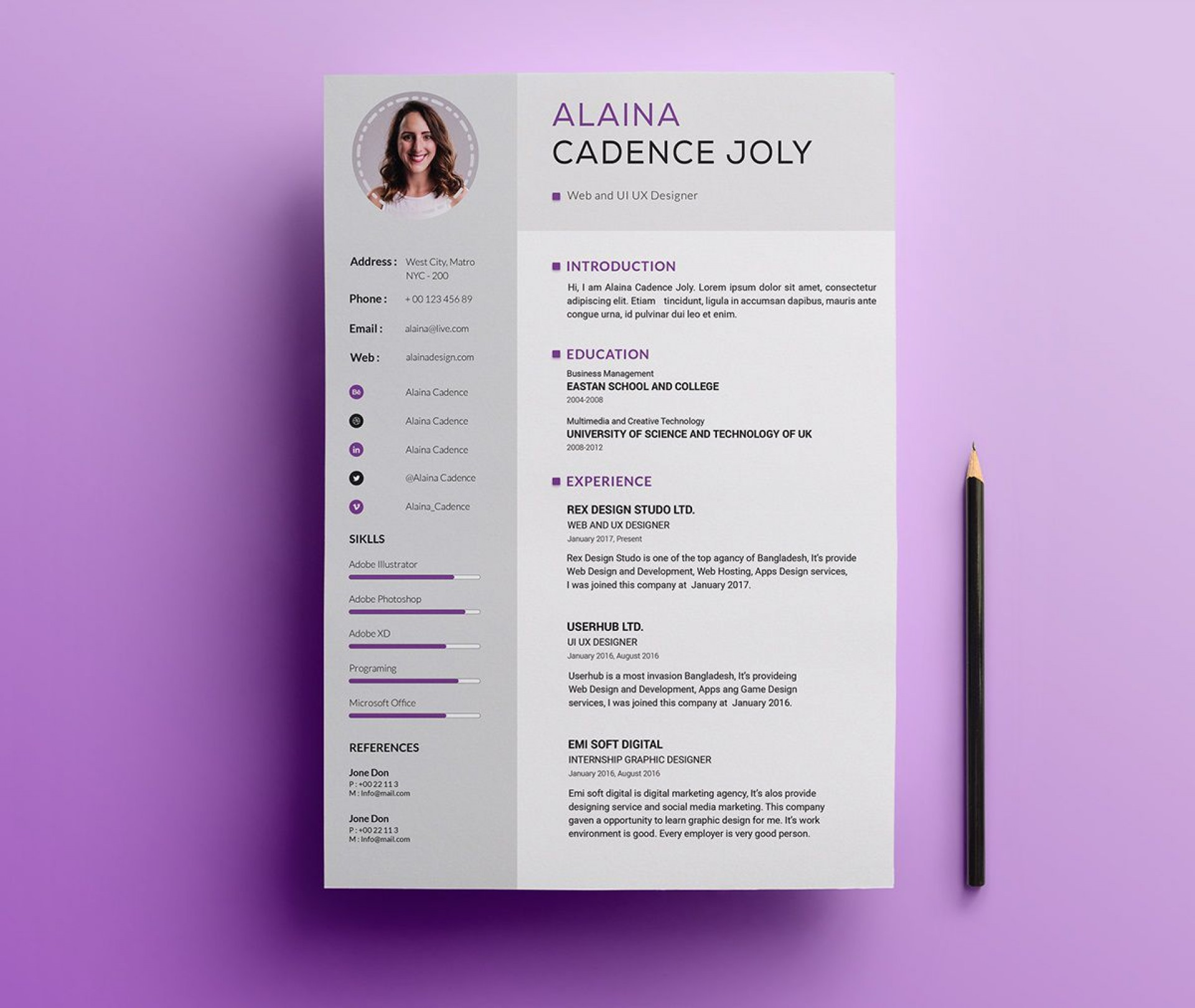 005 Impressive Professional Resume Template 2018 Free Download Idea 1920