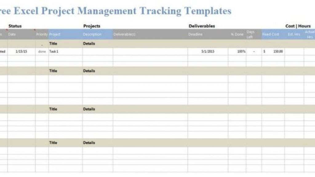005 Impressive Project Management Template Free Excel Idea  Portfolio Construction TrackingLarge