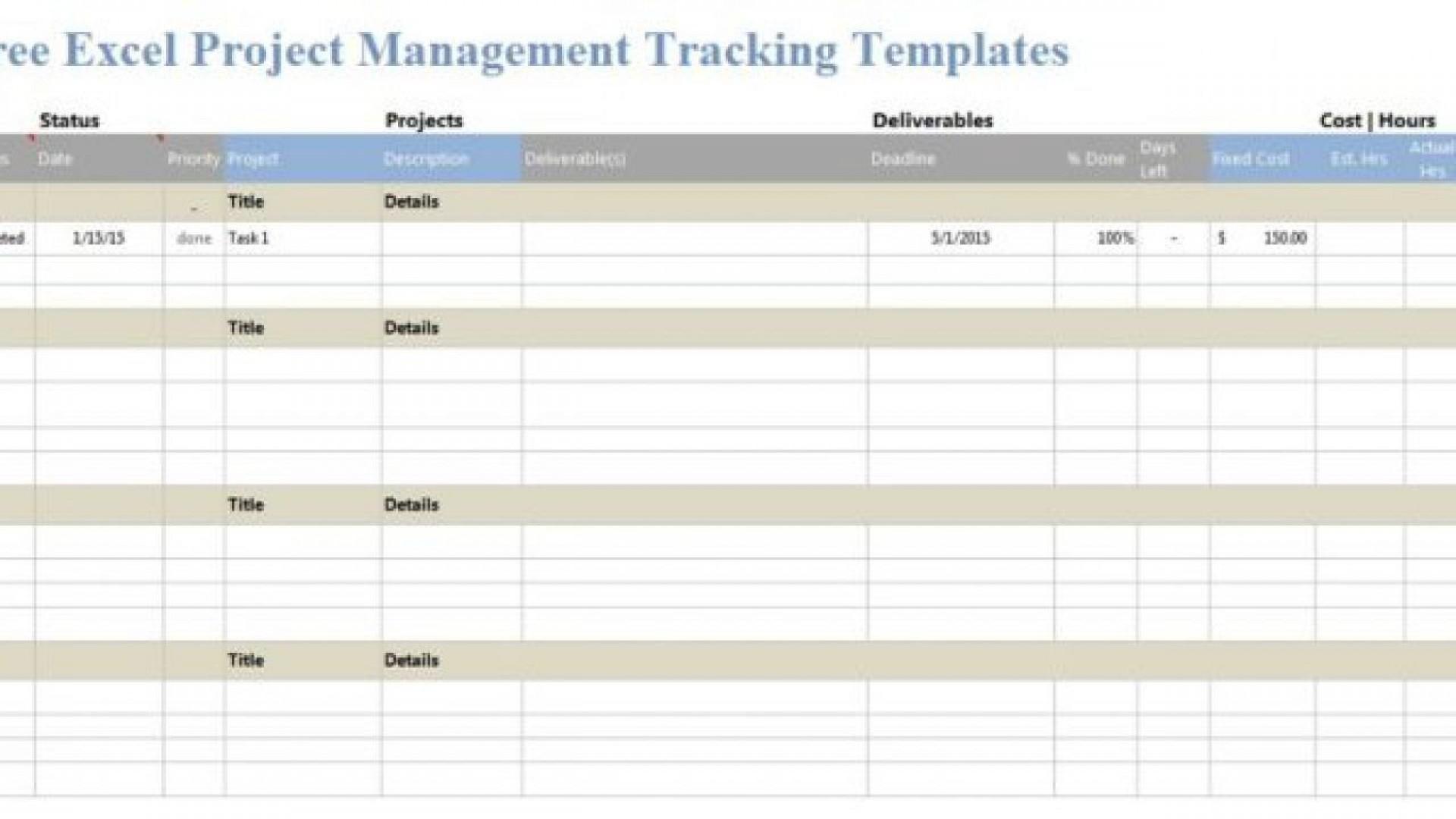 005 Impressive Project Management Template Free Excel Idea  Portfolio Construction Tracking1920