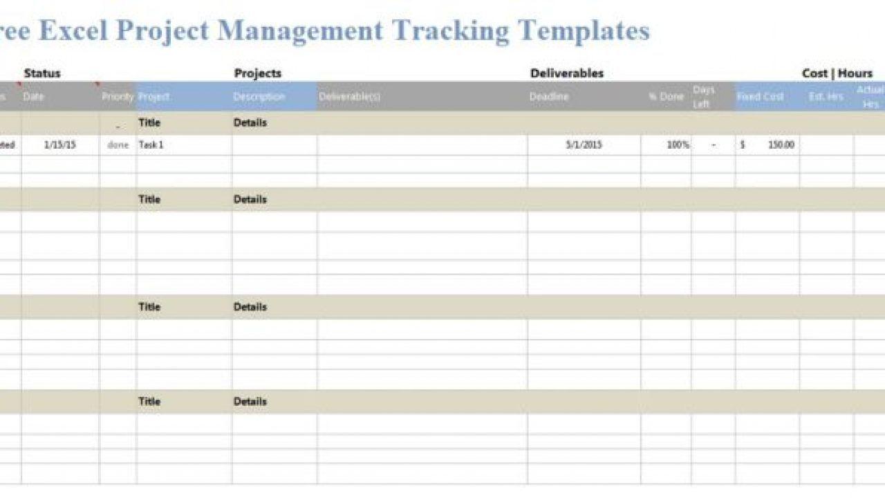 005 Impressive Project Management Template Free Excel Idea  Portfolio Construction TrackingFull