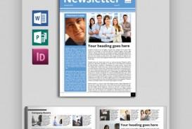 005 Impressive Publisher Newsletter Template Free Idea  Microsoft Office Download