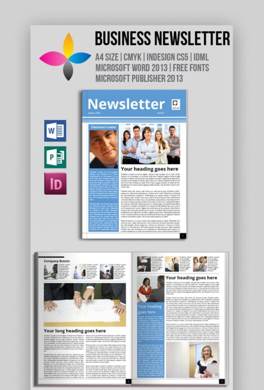 005 Impressive Publisher Newsletter Template Free Idea  M Download Microsoft868