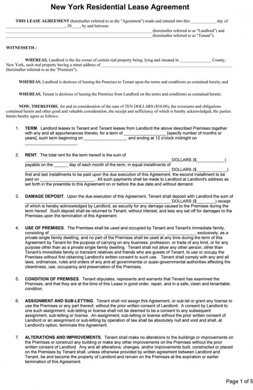 005 Impressive Rental Contract Template Free Download Concept  Agreement Sample Room FormLarge