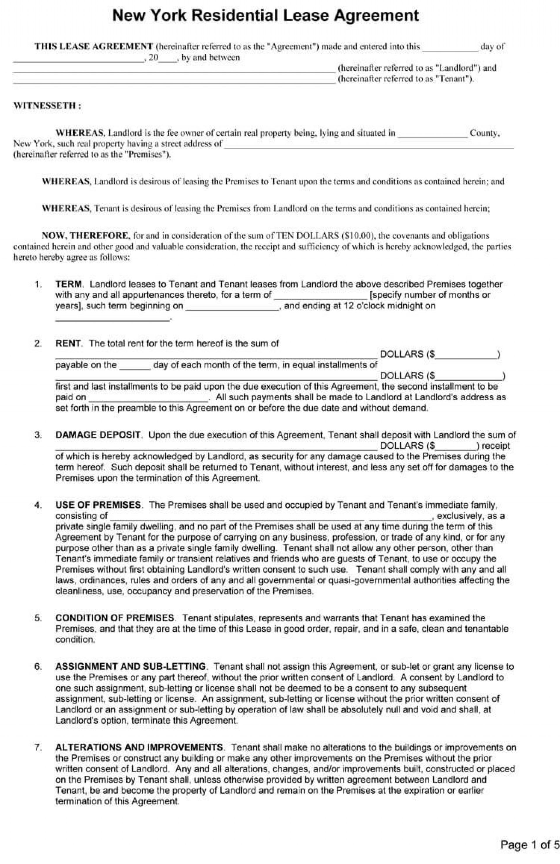 005 Impressive Rental Contract Template Free Download Concept  Agreement Sample Room Form1920
