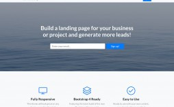 005 Impressive Responsive Landing Page Template Picture  Free Html With Flexbox Html5
