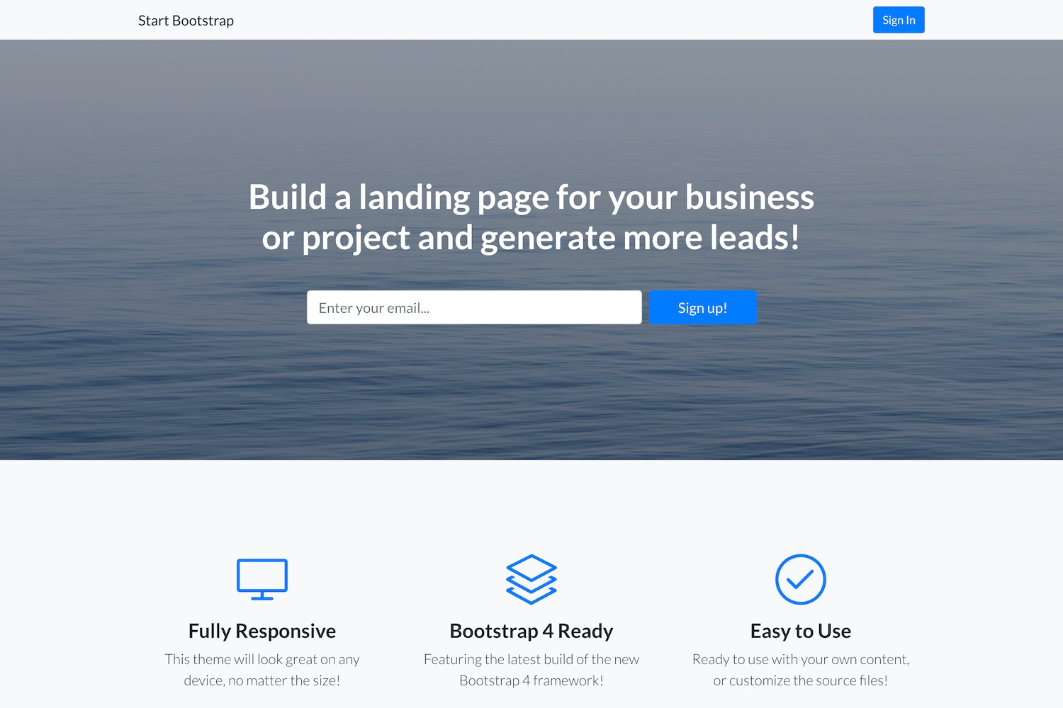005 Impressive Responsive Landing Page Template Picture  Free Html With Flexbox Html5Full