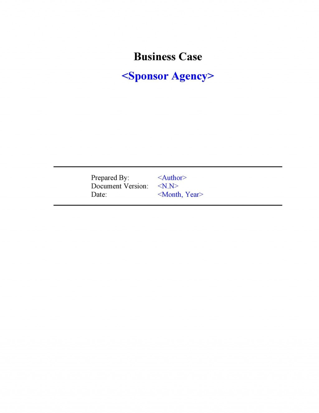 005 Impressive Simple Busines Case Template Image  Ppt Proposal Example PdfLarge