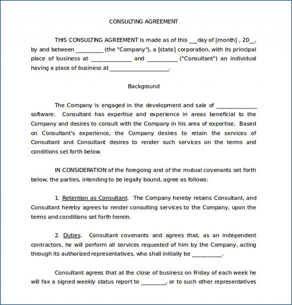 005 Impressive Simple Consulting Agreement Template Inspiration  Free Uk PdfLarge