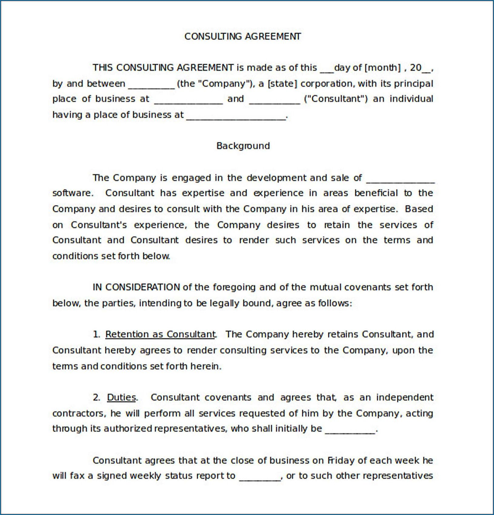 005 Impressive Simple Consulting Agreement Template Inspiration  Free Uk PdfFull