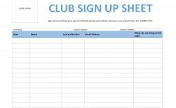 005 Impressive Snack Sign Up Sheet Template Design  Team Sport Printable