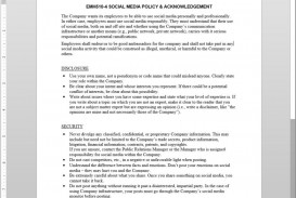 005 Impressive Social Media Policie Template Photo  Policy For Small Busines Australia Employee Uk Counselor