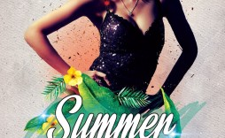 005 Impressive Summer Party Flyer Template Free Download Highest Clarity
