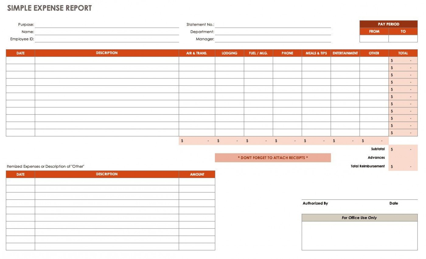 005 Impressive Travel Expense Report Template Photo  Format Excel Free1400