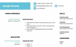 005 Impressive Undergraduate Student Cv Template Highest Clarity  Sample Pdf Download