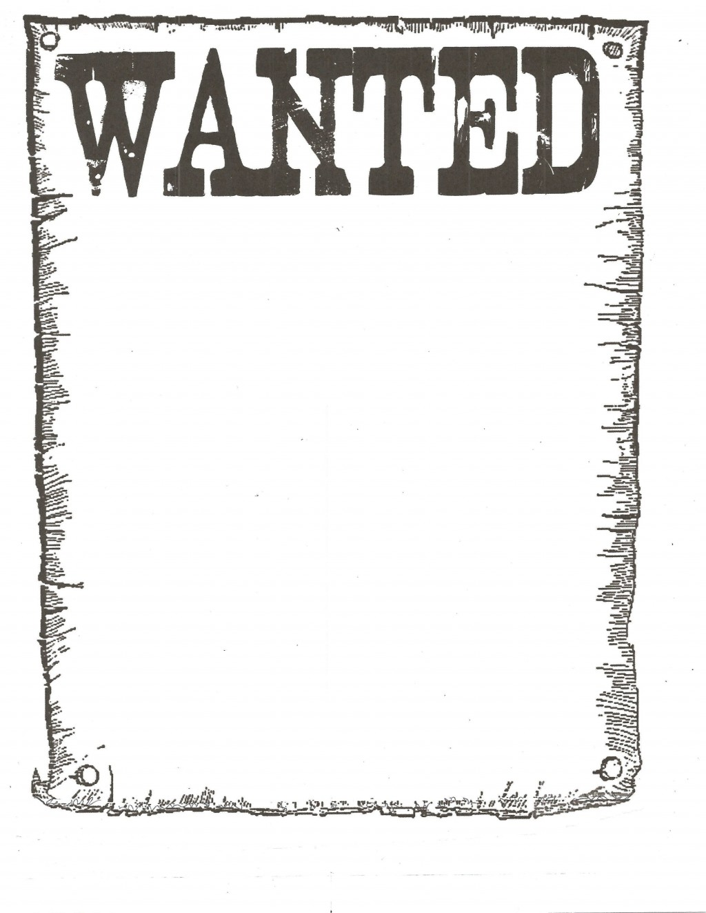 005 Impressive Wanted Poster Template Free Printable Design  MostLarge