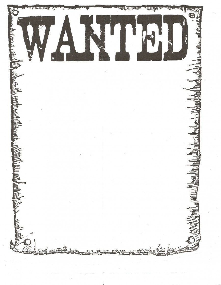 005 Impressive Wanted Poster Template Free Printable Design  Most