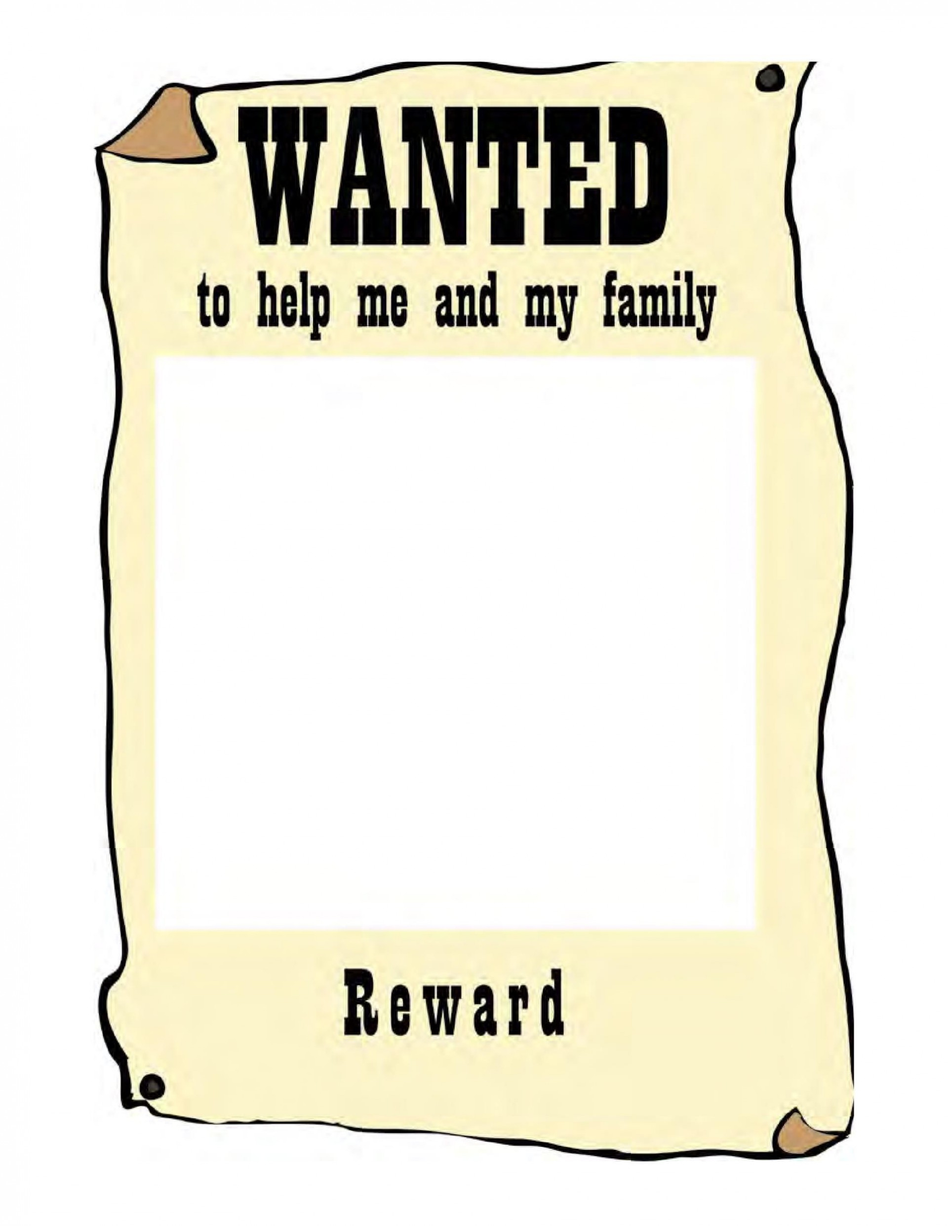 005 Impressive Wanted Poster Template Pdf High Definition  Free Character1920