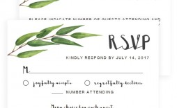 005 Impressive Wedding Rsvp Card Template Concept  Templates Invitation Menu Free Printable