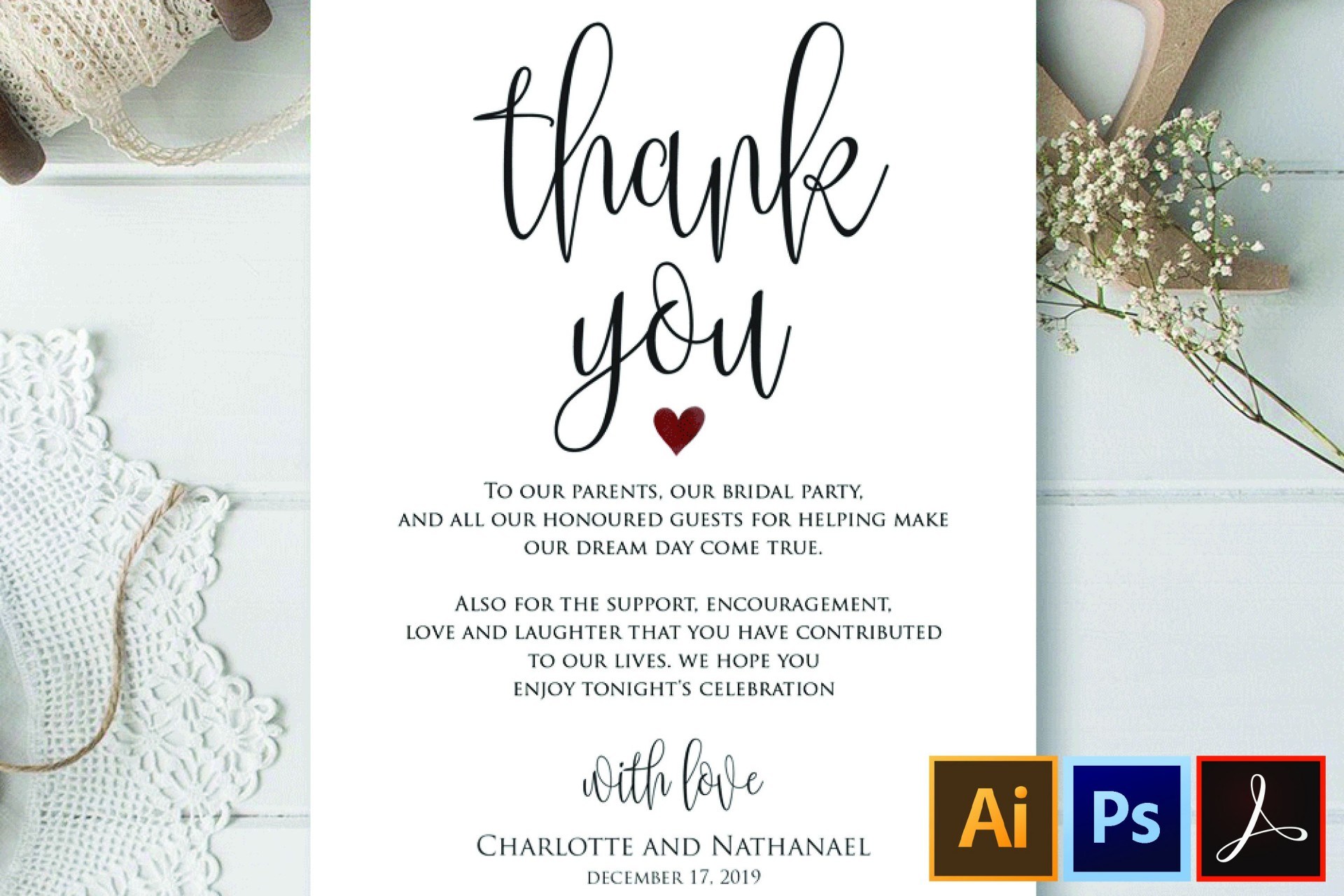 005 Impressive Wedding Thank You Note Template High Resolution  Templates Shower Card Etsy Bridal Format1920