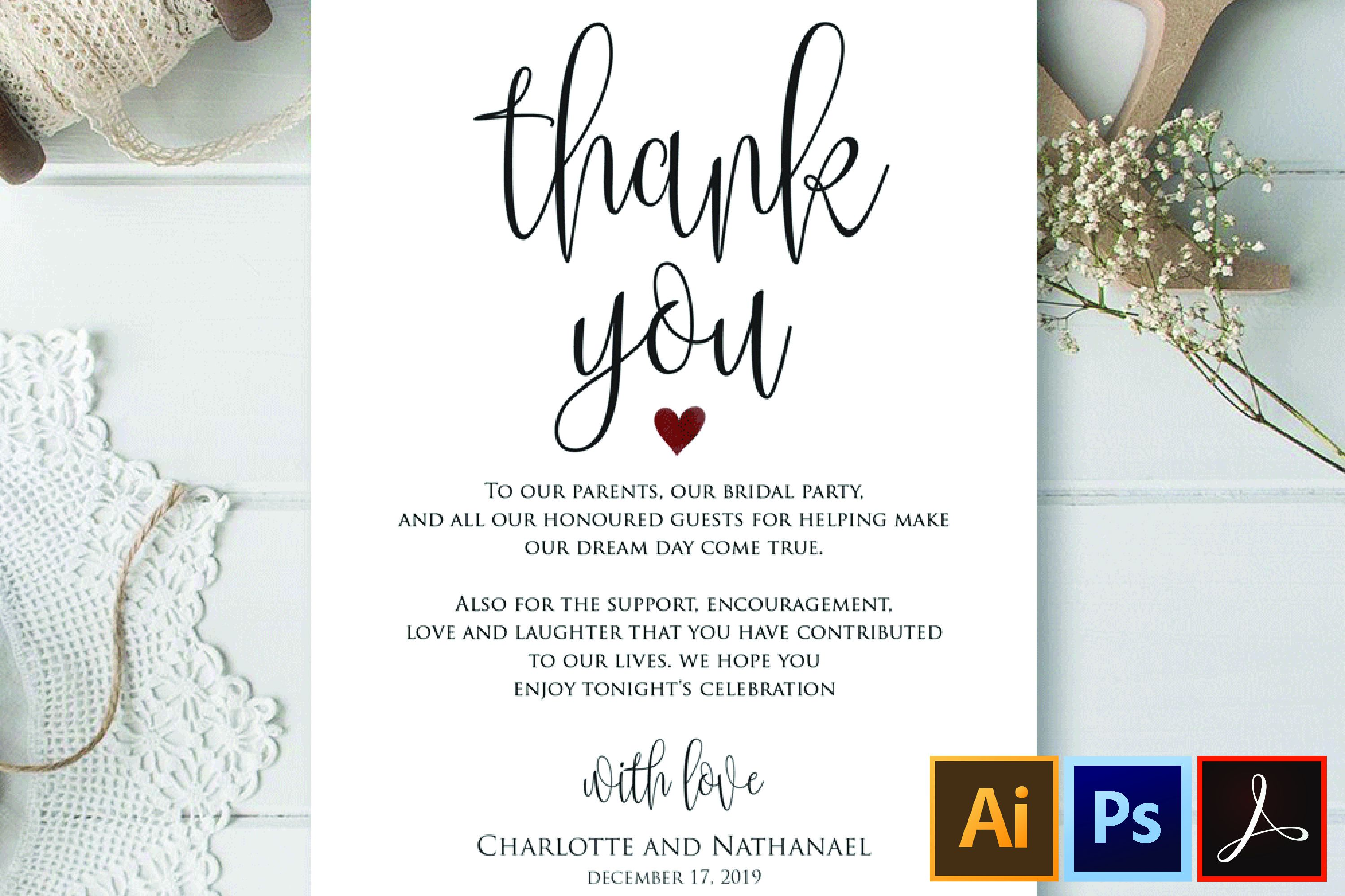 005 Impressive Wedding Thank You Note Template High Resolution  Templates Shower Card Etsy Bridal FormatFull