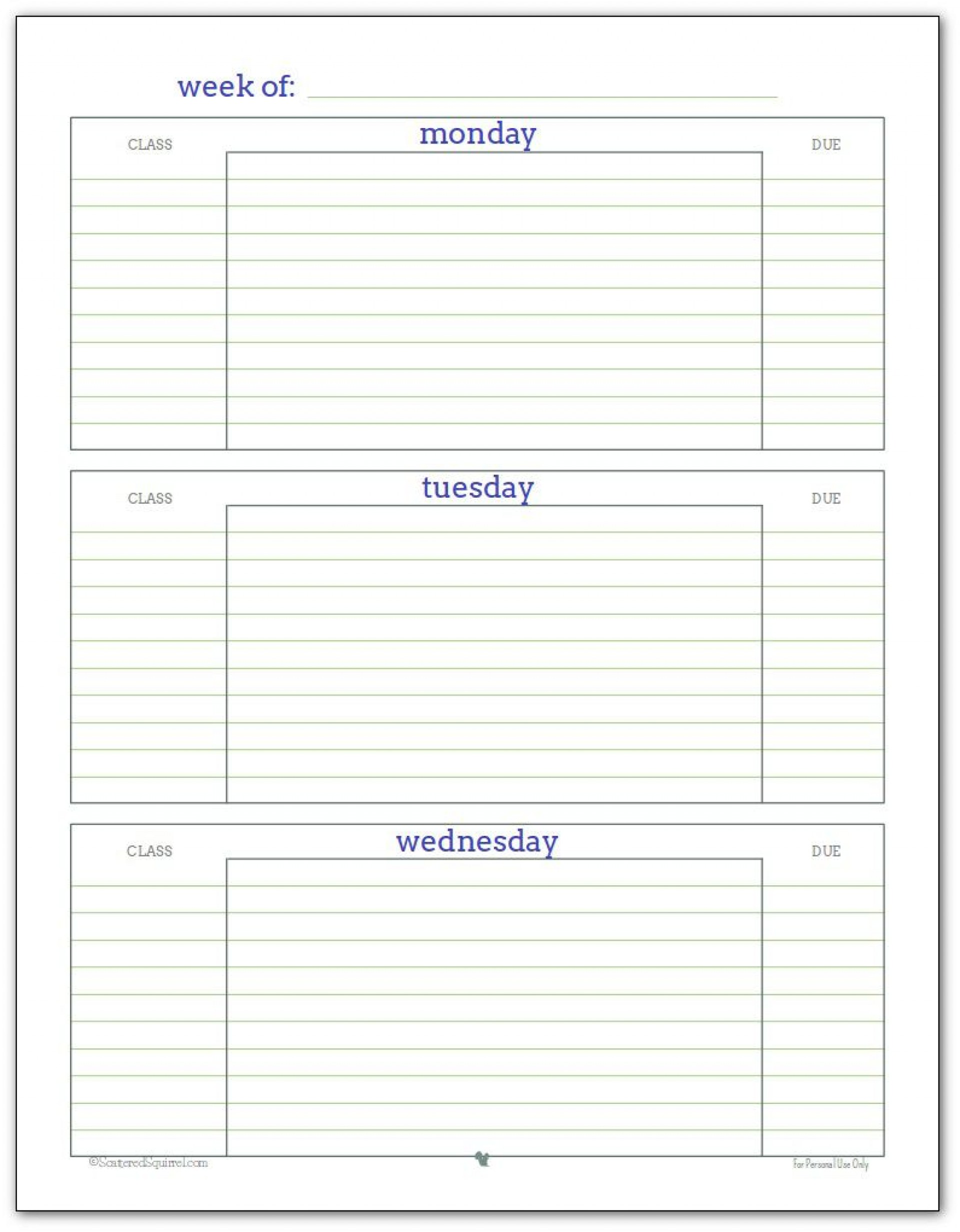005 Impressive Weekly School Planner Template Example  Lesson Plan Primary Planning Schedule Printable1920