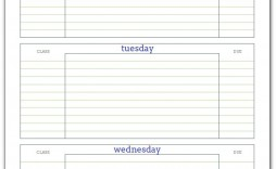 005 Impressive Weekly School Planner Template Example  Lesson Plan Primary Planning Schedule Printable