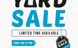 005 Impressive Yard Sale Flyer Template Design  Word Example Microsoft