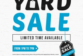 005 Impressive Yard Sale Flyer Template Design  Free Garage Microsoft Word
