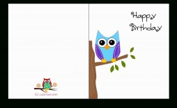 005 Incredible Blank Birthday Card Template For Word Picture  Free