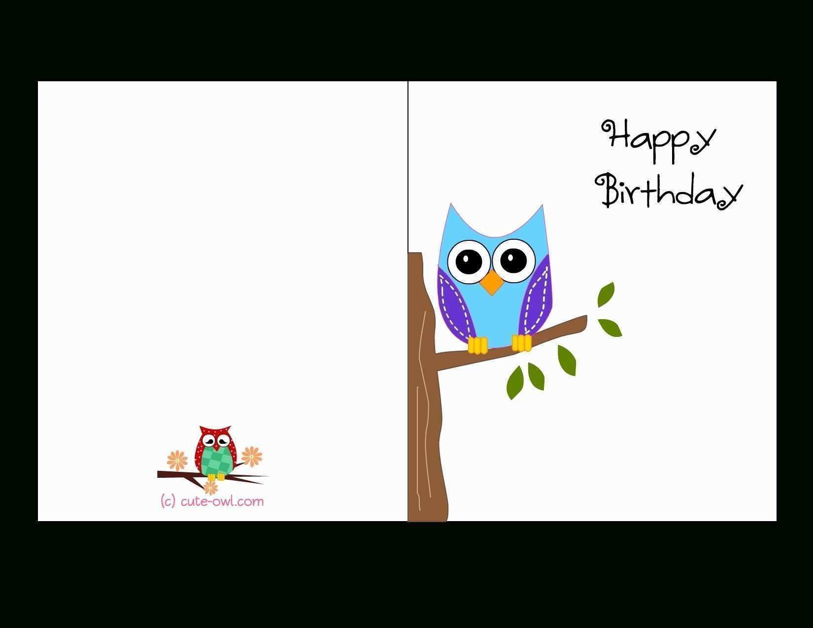 005 Incredible Blank Birthday Card Template For Word Picture  FreeFull
